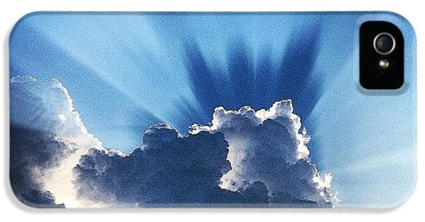 Summer iPhone 5s Case - #sunset #clouds #weather #rays #light by Amber Flowers