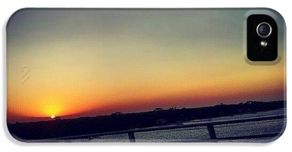 #sunset #rainbow #cool #bridge #driving IPhone 5s Case