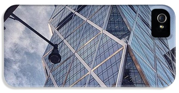 Blue iPhone 5s Case - The Hearst Building by Randy Lemoine