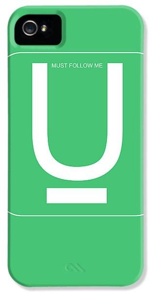 Harvard iPhone 5s Case - U Must Follow Me Poster by Naxart Studio