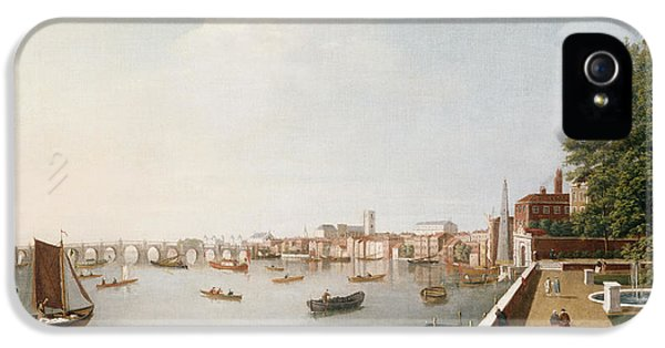 Westminster Abbey iPhone 5s Case - View Of The River Thames From The Adelphi Terrace  by William James