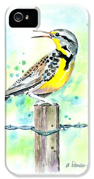 Western Meadowlark IPhone 5s Case by Arline Wagner
