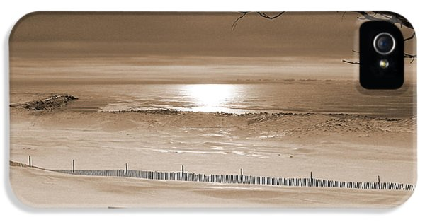Winter Beach Morning Sepia IPhone 5s Case
