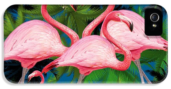 Flamingo IPhone 5s Case by Mark Ashkenazi