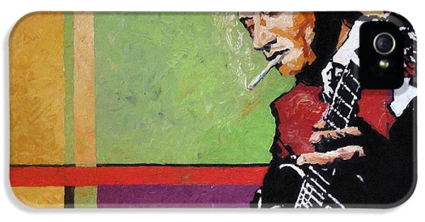 Impressionism iPhone 5s Case -  Jazz Guitarist by Yuriy Shevchuk