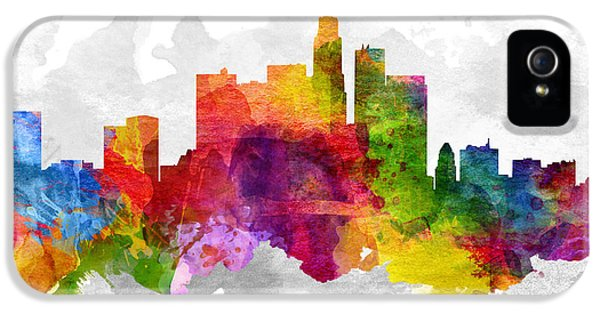 Los Angeles California Cityscape 13 IPhone 5s Case by Aged Pixel