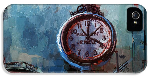 Clock iPhone 5s Case - 060 Milwaukee County Historical Society's Street Clock Frozen In Time by Maryam Mughal