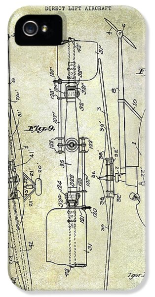 1935 Helicopter Patent  IPhone 5s Case