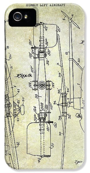 Helicopter iPhone 5s Case - 1935 Helicopter Patent  by Jon Neidert