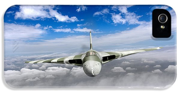 IPhone 5s Case featuring the digital art Avro Vulcan Head On Above Clouds by Gary Eason