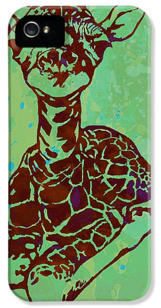 Baby Giraffe - Pop Modern Etching Art Poster IPhone 5s Case by Kim Wang