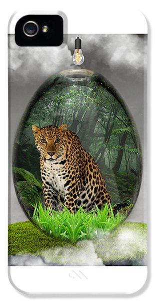 Big Cat Leopard Art IPhone 5s Case