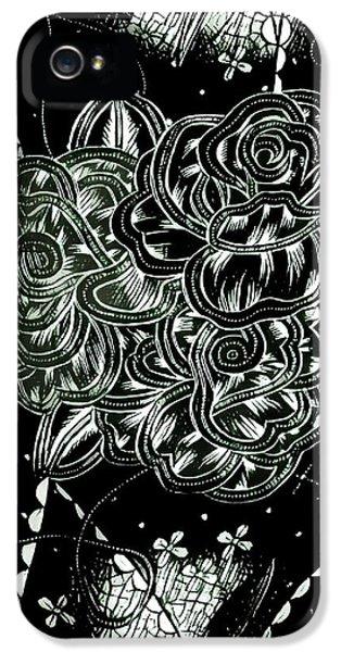 Black Flower IPhone 5s Case