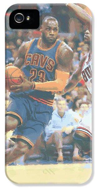 Cleveland Cavaliers Lebron James 2 IPhone 5s Case by Joe Hamilton