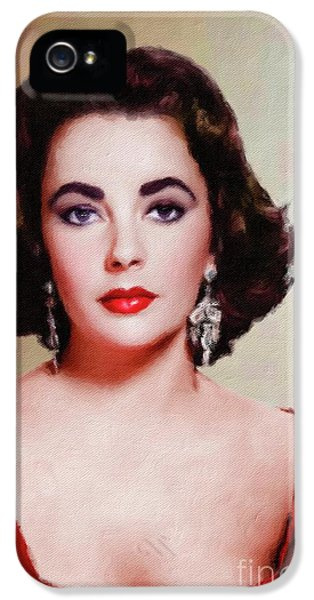 Elizabeth Taylor Hollywood Actress IPhone 5s Case by Mary Bassett
