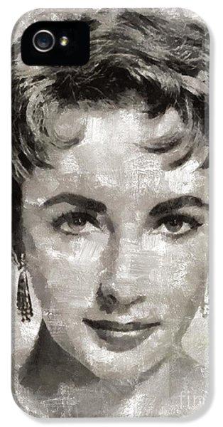 Elizabeth Taylor, Vintage Hollywood Legend IPhone 5s Case by Mary Bassett