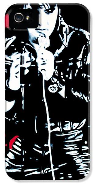 Elvis Presley iPhone 5s Case - Elvis by Luis Ludzska
