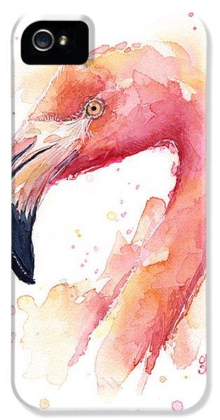 Flamingo Watercolor IPhone 5s Case