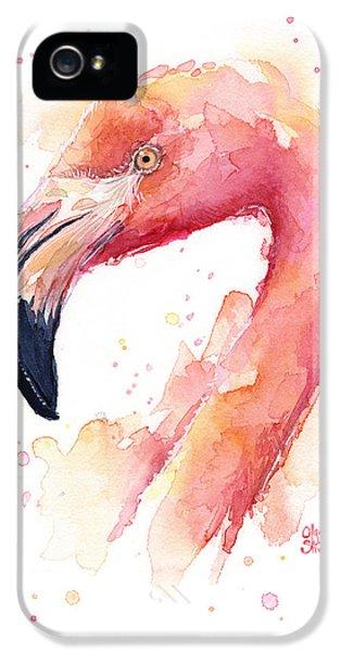 Flamingo Watercolor  IPhone 5s Case by Olga Shvartsur