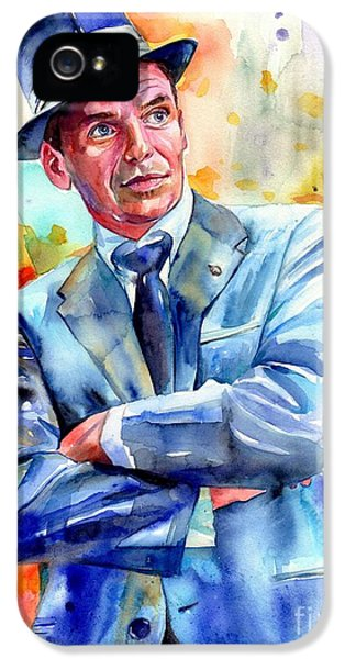 Frank Sinatra iPhone 5s Case - Frank Sinatra Young Painting by Suzann's Art