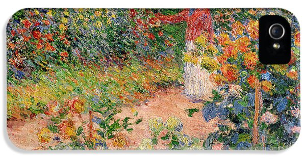 Impressionism iPhone 5s Case - Garden At Giverny by Claude Monet