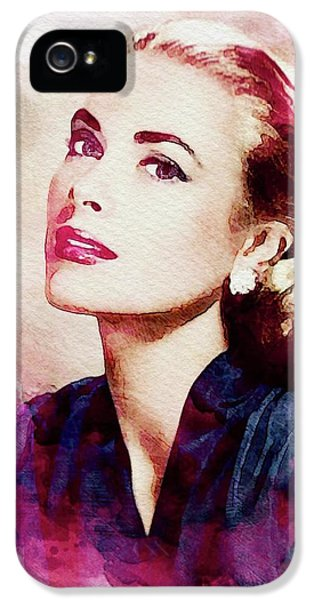 Grace Kelly iPhone 5s Case - Grace Kelly, Vintage Actress by John Springfield