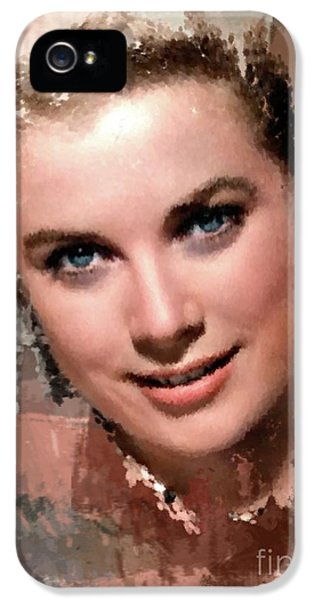 Grace Kelly, Vintage Hollywood Actress IPhone 5s Case by Mary Bassett