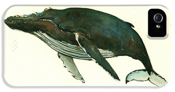 Humpback Whale  IPhone 5s Case by Juan  Bosco