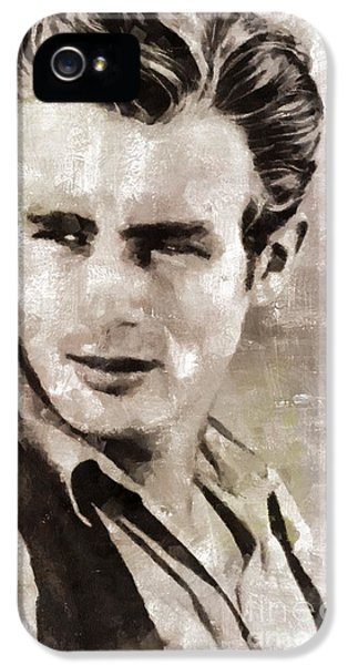 James Dean Hollywood Legend IPhone 5s Case by Mary Bassett