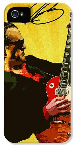 Eric Clapton iPhone 5s Case - Joe Bonamassa by Semih Yurdabak