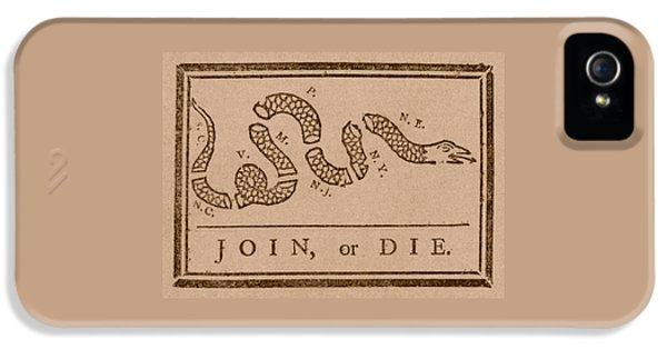 Garden Snake iPhone 5s Case - Join Or Die by War Is Hell Store