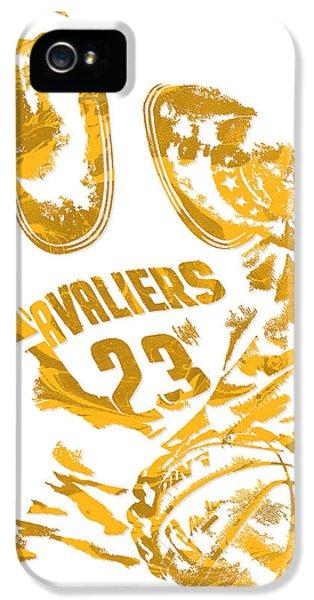 Lebron James Cleveland Cavaliers Pixel Art 7 IPhone 5s Case