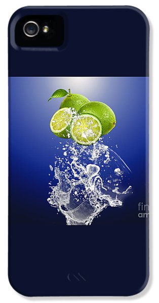 Lime Splash IPhone 5s Case by Marvin Blaine