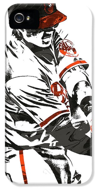 Oriole iPhone 5s Case - Manny Machado Baltimore Orioles Pixel Art by Joe Hamilton