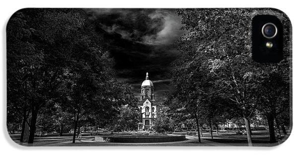 Notre Dame University Black White IPhone 5s Case by David Haskett