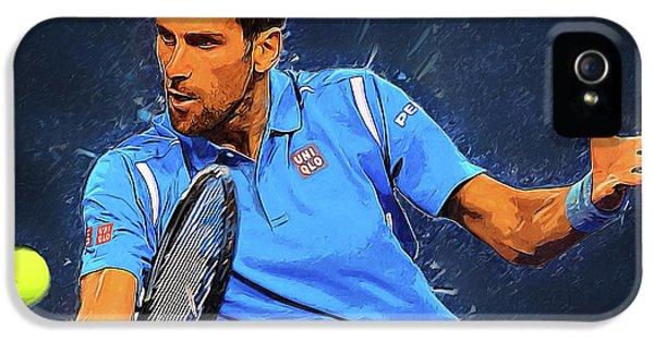 Novak Djokovic IPhone 5s Case by Semih Yurdabak