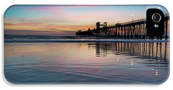 Ocean Sunset iPhone 5s Case - Oceanside Pier Sunset by Larry Marshall