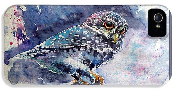 Owl iPhone 5s Case - Owl At Night by Kovacs Anna Brigitta