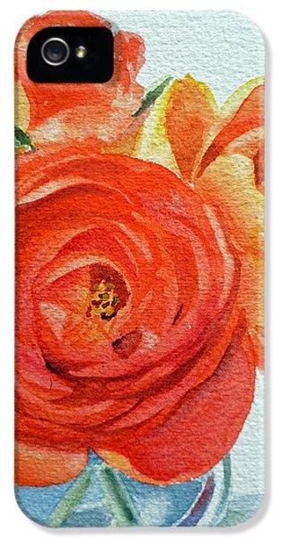 Rose iPhone 5s Case - Ranunculus by Irina Sztukowski