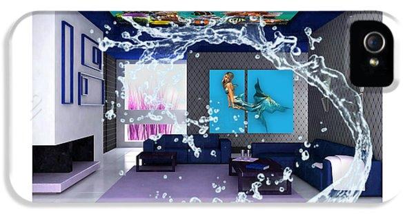 Rooftop Saltwater Fish Tank Art IPhone 5s Case