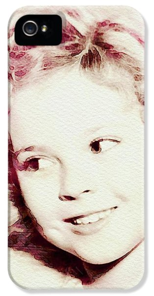 Shirley Temple iPhone 5s Case - Shirley Temple, Vintage Actress by John Springfield