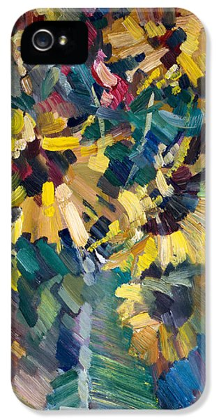 Impressionism iPhone 5s Case - Sunflowers by Nikolay Malafeev