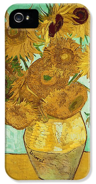 Impressionism iPhone 5s Case - Sunflowers By Van Gogh by Vincent Van Gogh