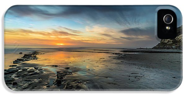 Ocean Sunset iPhone 5s Case - Sunset At Swamis Beach by Larry Marshall
