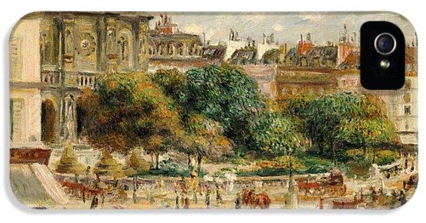 Clock iPhone 5s Case - Place De La Trinite, 1893 by Pierre Auguste Renoir