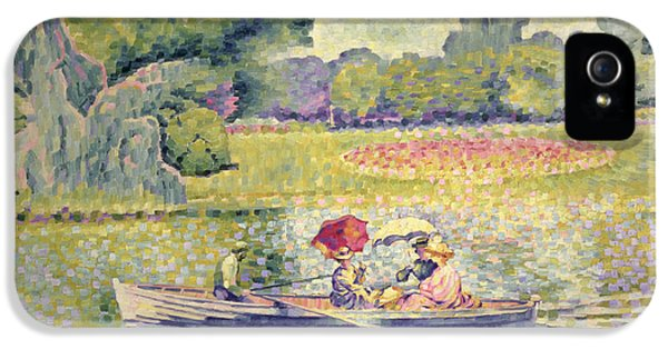 The Promenade In The Bois De Boulogne IPhone 5s Case by Henri-Edmond Cross