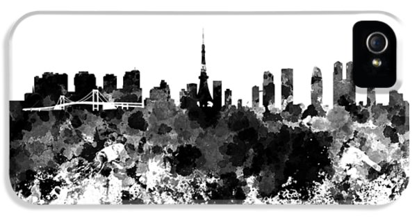 Tokyo Skyline In Watercolor On White Background IPhone 5s Case by Pablo Romero