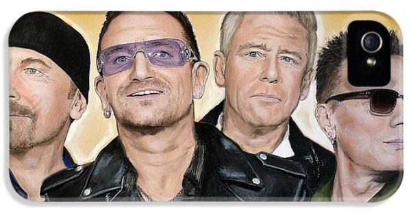 Bono iPhone 5s Case - U2 Band by Melanie D