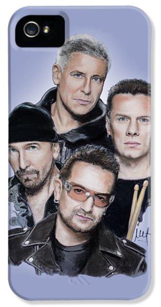 Bono iPhone 5s Case - U2 by Melanie D