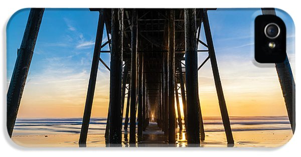 Ocean Sunset iPhone 5s Case - Under The Oceanside Pier by Larry Marshall
